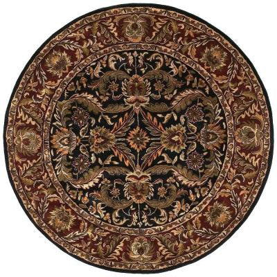 Ainsworth Black 8 ft. Round Area Rug