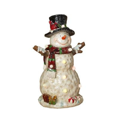 19.7 in. H Battery Operated Lighted Musical Snowman Figurine