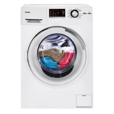 2.0 cu. ft. 24 in. Wide Front Load Washer/Dryer Combination with Stainless Steel Drum in White