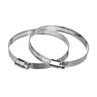 4 in. Galvanized Steel Worm Gear Clamp