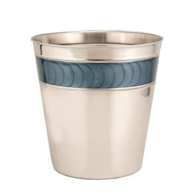 3 gal. Express Nickel Stainless Steel Round Trash Can