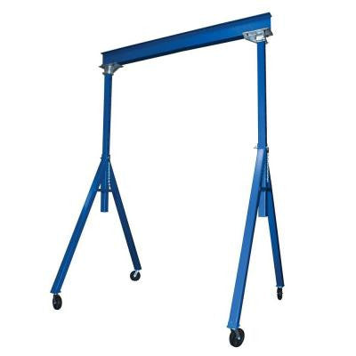 Blue 2000 lb. Steel Gantry Crane with Adjustable Height