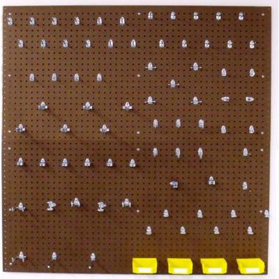 (2) Heavy Duty 1/4 in. x 1/8 in. Pegboard Wall Organizer Kit in Brown with 83-Piece Locking Hooks