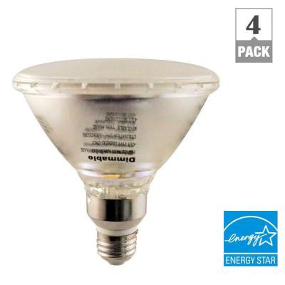 75W Equivalent Soft White BR40 Quartz Glass Dimmable LED Bulb (4-Pack)