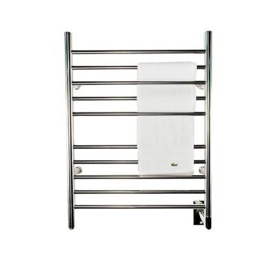 Radiant Straight Hardwired 24 in. W x 32 in. H 10-Bar Electric Towel Warmer in Polished Stainless Steel