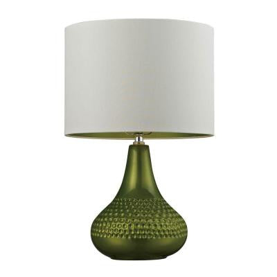 Dimond 23 in. Bright Green Table Lamp with Shade