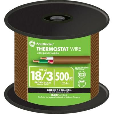 500 ft. 18/3 Thermostat Wire - Brown