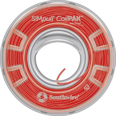 SIMpull CoilPAK 1000 ft. 12 Solid CU THHN-THWN-2 Wire - Red