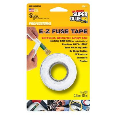 1 in. x 10 ft. White E-Z Fuse Silicone Tape (Case of 12)