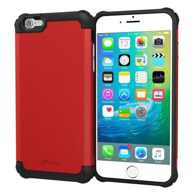 Exec Tough Pro Hybrid Armor Case for Apple iPhone 6/6S Plus - Red