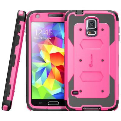 Galaxy S5 Armorbox Series Fullbody Case with Screen Protector - Pink