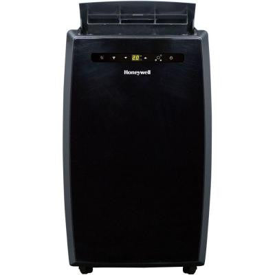12,000 BTU Portable Air Conditioner with Remote and Cover in Black
