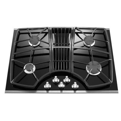 Architect Series II 30 in. Gas-on-Glass Gas Cooktop in Stainless Steel with 4 Burners including Professional Burner
