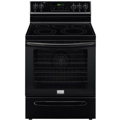 Gallery 30 in. 5.7 cu. ft. Electric Range with Convection Self-Cleaning Oven in Black