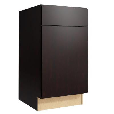 Fiske 18 in. W x 34 in. H Vanity Cabinet Only in Coffee