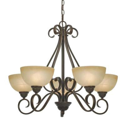 Myers Collection 5-Light Peppercorn Chandelier