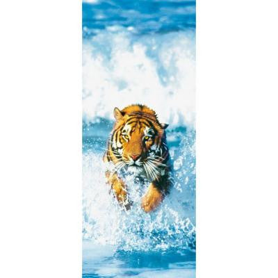 79 in. x 34 in. Bengal Tiger Wall Mural