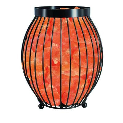 8.3 in. Ionic Crystal Natural Salt Oval Basket Lamp
