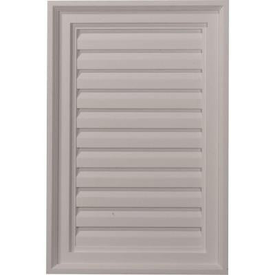 2 in. x 16 in. x 24 in. Decorative Vertical Gable Louver Vent