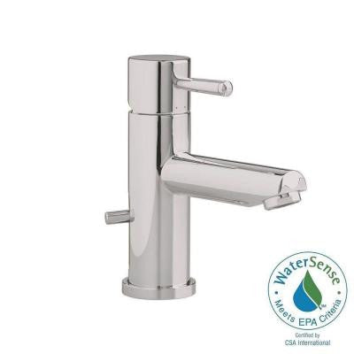 Serin Single Hole Single Handle Low-Arc Bathroom Faucet with Speed Connect Drain in Satin Nickel
