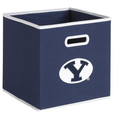 College STOREITS Brigham Young University 10-1/2 in. W x 10-1/2 in. H x 11 in. D Navy Fabric Storage Drawer