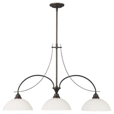 Boulevard 3-Light Oil-Rubbed Bronze Billiard Island Chandelier