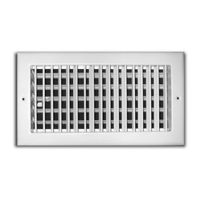 10 in. x 8 in. 1 Way Aluminum Adjustable Wall/Ceiling Register