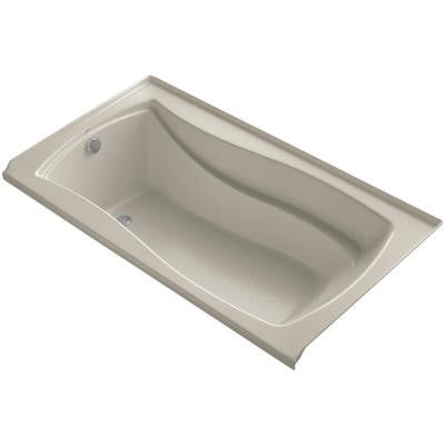 Mariposa 5.5 ft. Left Drain Soaking Tub in Sandbar with Basked Heated Surface