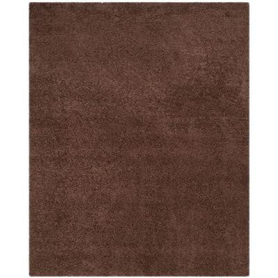 Laguna Shag Brown 8 ft. x 10 ft. Area Rug