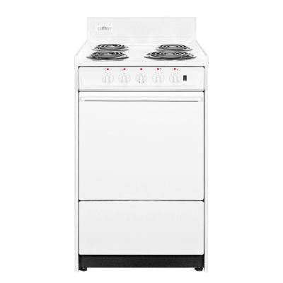 24 in. 2.92 cu. ft. Electric Range in White