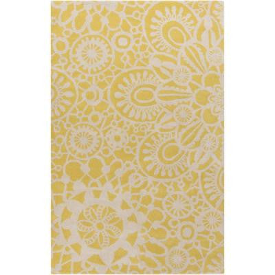 Adlumia Gold 2 ft. x 3 ft. Indoor Area Rug