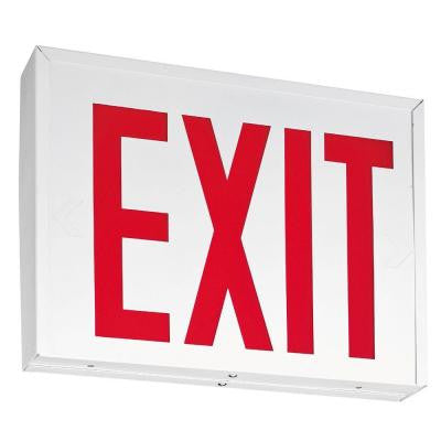 New York Approved Steel LED Emergency Exit Sign with Battery