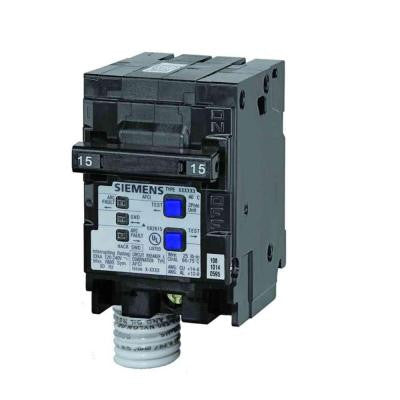 15 Amp Double-Pole Type QAF Combination AFCI Circuit Breaker