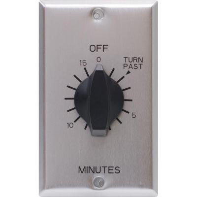 15-Amp 15-Minute In-Wall Spring Wound Stainless Steel Timer