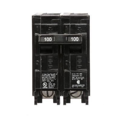 100 Amp Double-Pole Type MP 22 kA Plug-In Circuit Breaker