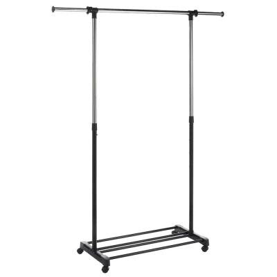 Deluxe Steel Adjustable 4-Wheeled Garment Rack