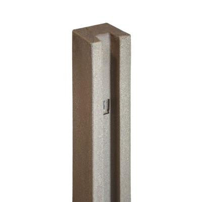 5 in. x 5 in. x 8-1/2 ft. EcoStone Brown Composite Fence End Post