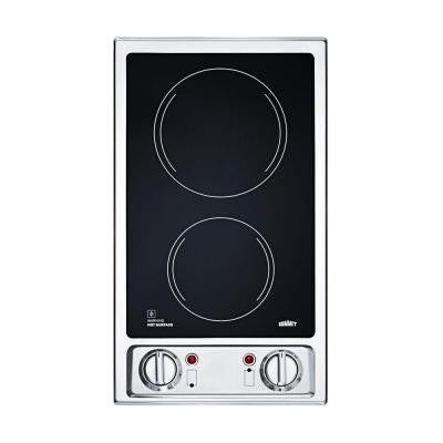 12 in. Radiant Electric Cooktop in Black with 2 Elements