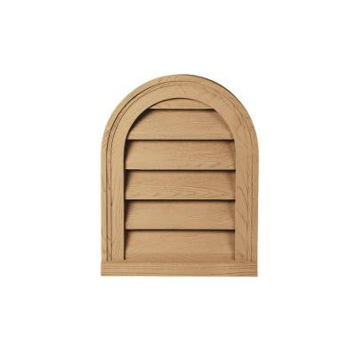 22 in. x 31-1/2 in. x 2 in. Polyurethane Timber Functional Cathedral Louver Gable Vent