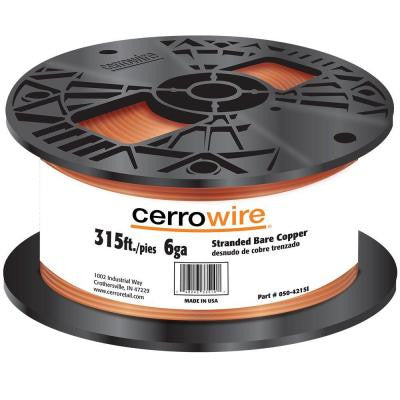 315 ft. 6/1 Bare Copper Grounding Wire