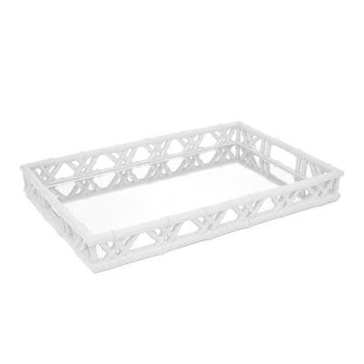 19.5 in. White Zian Tray