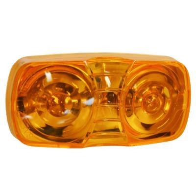 Clearance 4 in. Dual Bulb Rectangular Lamp Amber