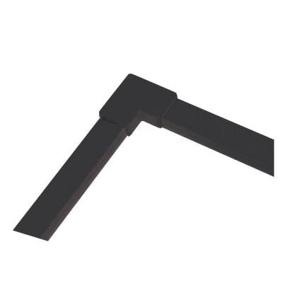 90 Degree Black Right or Left Lx Track Corner Cover
