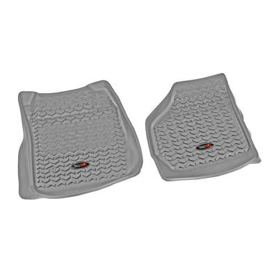 Floor Liner Front Pair Gray 1999-2007 Ford F250/350 Super duty