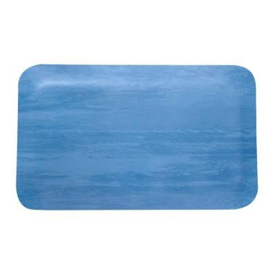 Rubber Blue and White 18 in. x 30 in. Anti-Fatigue Mat