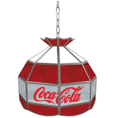 Coca Cola 16 in. Stained Glass Billiard Hanging Tiffany Light