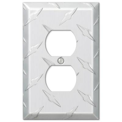 Garage 1 Duplex Outlet Plate - Chrome