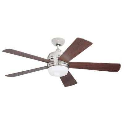 Zephyr 52 in. Opal Matte Outdoor Ceiling Fan