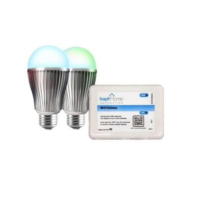 60W Equivalent Connected Home Color Changing LED Light Bulb Starter Kit (2-Pack)