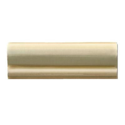 Hand-Painted Crema 2 in. x 6 in. Ceramic Chair Rail Trim Wall Tile